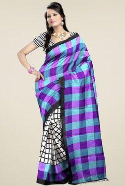 Ethnic Basket Multicolor Bhagalpuri Silk Saree With Blouse - Mp000000000907124