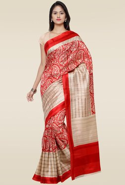 Saree Mall Red Printed Saree