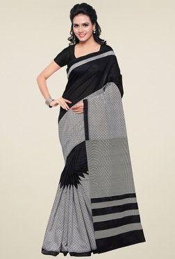 Saree Mall Grey Bhagalpuri Silk Saree With Blouse