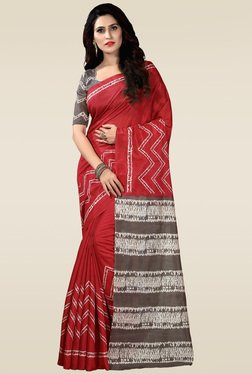 Saree Mall Maroon Bhagalpuri Silk Saree With Blouse