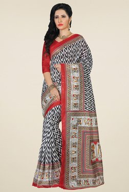Saree Mall Multicolor Zigzag Printed Saree With Blouse