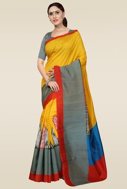 Saree Mall Multicolor Bhagalpuri Silk Saree With Blouse