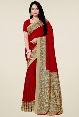 Saree Mall Red Printed Manipuri Silk Saree With Blouse - Mp000000000907467