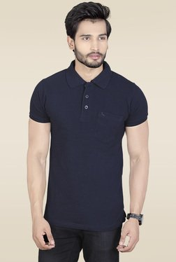 Lucfashion Navy Half Sleeves Polo T-Shirt