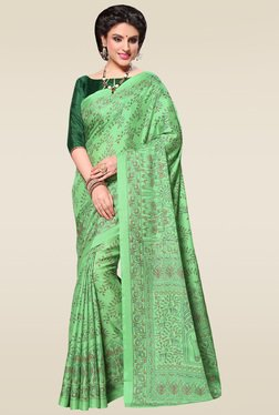 Saree Mall Light Green Manipuri Silk Saree With Blouse