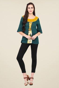 Fashion Eva Green Cotton & Rayon Printed Kurti - Mp000000000909852