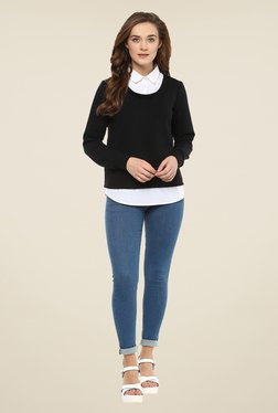 Femella Black Solid Sweatshirt - Mp000000000909065