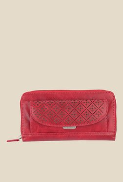 Lavie Melvin Red Textured Wallet - Mp000000000910342