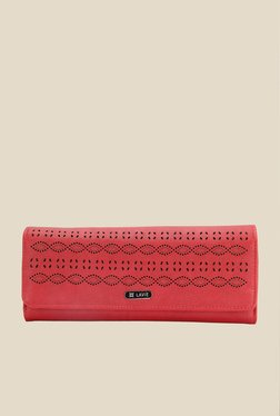 Lavie Melvin Red Textured Wallet