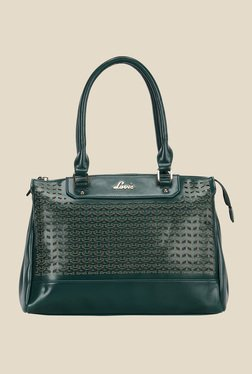 Lavie Taino Dark Green Laser Cut Design Shoulder Bag