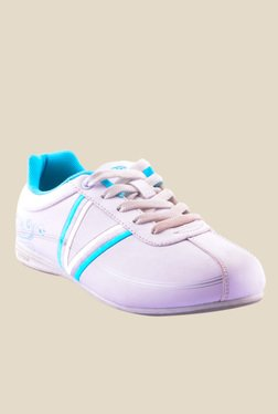 Escan White & Sky Blue Running Shoes