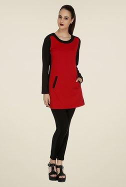 109 F Red Printed Tunic