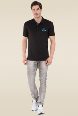 Jockey Black Sport Polo T-Shirt - 3911