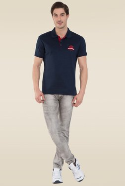 Jockey Navy Sport Polo T-Shirt - 3911