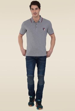 Jockey Grey Melange Polo T-Shirt - US85