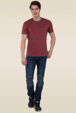 285a2de70a08a Jockey Charcoal   Deep Tango Crew Neck T-Shirt - 2715