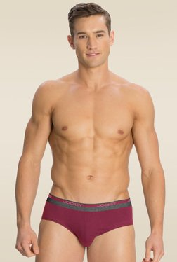 Jockey Red Wine Square Cut Brief Pack of 2 - 8037