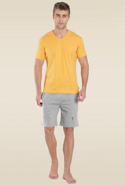 9016ec2186121 Jockey Grey Melange Leisure Shorts - 9427