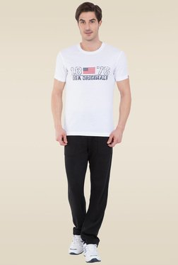 Jockey White Crew Neck Graphic T-Shirt - US81