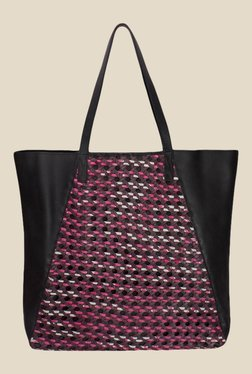 Risa Pink Hand Painted Woven Tote Bag