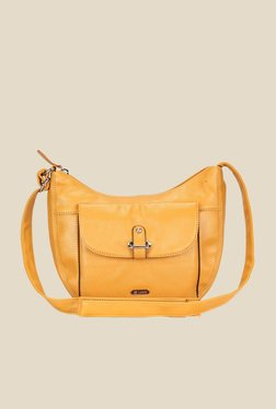 5dea425e115 Lavie Dover Ochre Solid Hobo Sling Bag Best Deals With Price ...