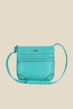 Lavie Dover Sea Green Textured Sling Bag