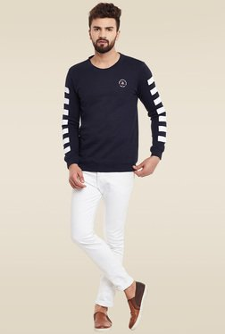 Rigo Navy Slim Fit Sweatshirt