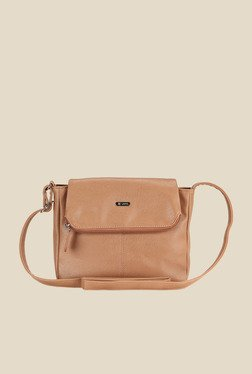 Lavie Dover Brown Flapped Sling Bag