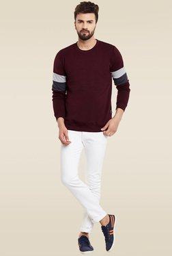 Rigo Maroon Slim Fit Sweatshirt