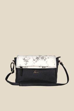 Lavie Steen Black Floral Print Sling Bag
