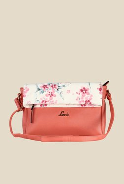 Lavie Steen Light Coral Floral Print Sling Bag