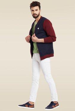 Rigo Navy & Maroon Slim Fit Sweatshirt