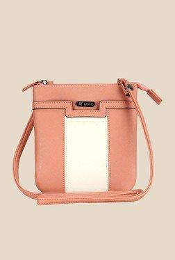 Lavie Dover Peach Top Zip Sling Bag