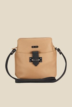 Lavie Dover Beige Top Zip Sling Bag