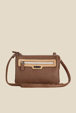 Lavie Dover Brown Top Zip Sling Bag