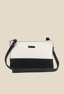 Lavie Dover White And Black Quilted Sling Bag