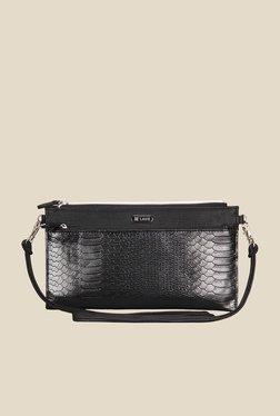 Lavie Dover Black Snake Skin Textured Sling Bag - Mp000000000916732