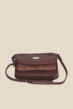Lavie Dover Brown Textured Sling Bag