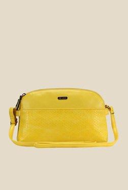 Lavie CSB Yellow Textured Sling Bag