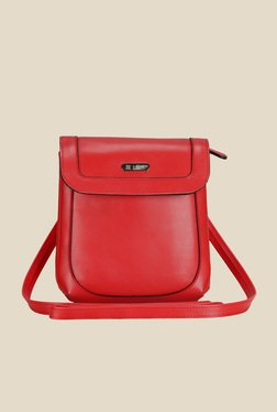 Lavie Dover Red Sling Bag With Flap