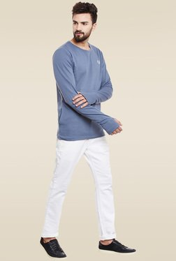 Rigo Blue Slim Fit Sweatshirt
