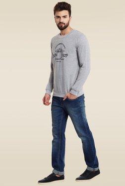 Rigo Grey Slim Fit Sweatshirt