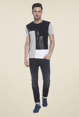 Jack & Jones Light Grey Solid T Shirt