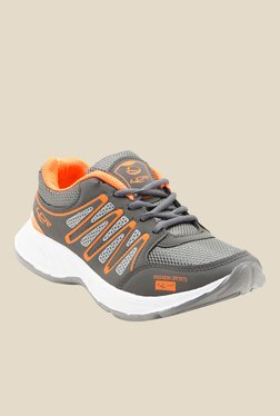 Lancer Hydra Dark Grey & Orange Running Shoes