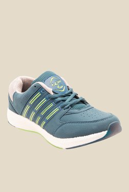 Lancer Cuba Greyish Blue & Parrot Green Running Shoes