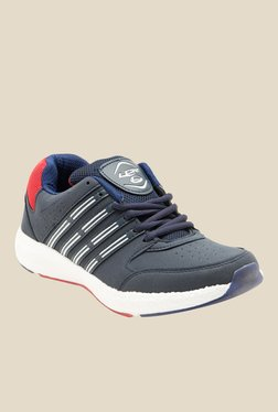 Lancer Cuba Navy Blue & Red Running Shoes
