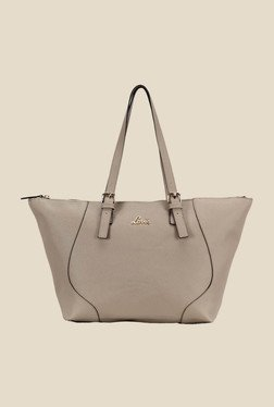 Lavie Snooker Grey Solid Trapeze Bag