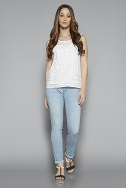 LOV by Westside White Billy Blouse