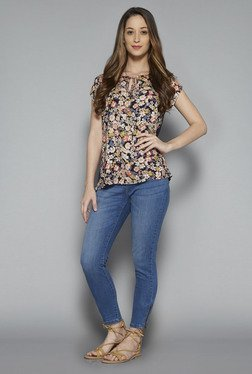 LOV by Westside Navy Ace Blouse