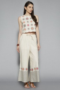 Bombay Paisley by Westside Beige Crop Top